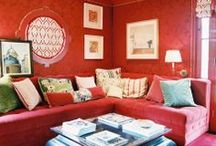 Red / Images of red interior design and home decor.  / by Lonny Magazine
