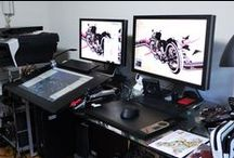 Studio Environments / Every artist needs and inspirational place to work.