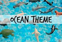 Theme | OCEAN/BEACH / Kids' activities for a kindergarten or preschool ocean theme, as well as for a beach theme.