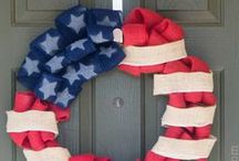Holidays: 4th of July & Patriotic / All things red, white and blue for President's Day, 4th of July, and other #USA #Patriotic holidays
