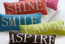 Sitting pretty - cushions!