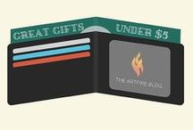 Great Gifts Under $5 on ArtFire / From handmade cards to craft supplies to crochet patterns! Find cool gifts for yourself or a loved one here!