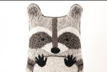 Raccoons / #raccoon #raccoons #gift #gifts #racoon #coon #northamerica #mammal #animal #animals #nocturnal #bear #bears #cute #kawaii #home #decor #decorations #plush #plushies #stuffed #soft #toy #toys #striped #stripes #children #toddler #kids #handmade