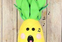 Pineapples / #pineapple #pineapples #handmade #playfood #plushtoys #decor #homedecor #yellow #green #fruit #vegetables #hawaii #hawaiian #pillow #pineapplelover #gift #gifts #baby #children #decoration #food #fruitsalad #summer #time #spring #break #freshfruit #gofruityourself #vegan #sunday #funday #beach #tropical #copacabana #handmade #thehivehandmade #madewithlove #etsy #tropical #fashion #springbreak2018 #veganlife #vacation #holiday