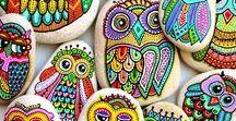 Rock Art / #rockart #rocks #rock #petrock #paintedrocks #rockpaintings #rockartideas #pebbles #pebble #art #giftideas #gifts #stones #gardenrocks #rockgarden #storystones #rockgames #handpainted #gardenart