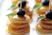 Food to Serve / Fun and unique menu ideas to consider for your wedding, rehearsal dinner or farewell brunch.