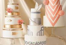 Wedding Cakes / Be inspired by the colors, textures and works of art created by these very talented wedding cake artists.