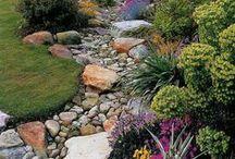 Inspiration   Backyard / Backyard ideas, Fences, patios, decks, gardens, outdoor furniture, flowers, pots, hanging baskets, shrubs, trees, awnings