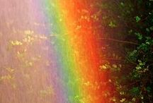Rainbow *w* / When you least expect it, that's the #rainbow appears in the gray #sky. #colors