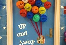 Door Decorations / Decorations for classroom doors. / by Mary Welch