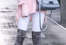 fall fashion / The best of fall fashion! There is no shortage of plaid scarves and booties here!