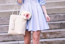 spring fashion / Outfit inspiration to get you through spring! Lots of color, flirty skirts, and airy fabrics!