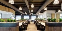 Office Spaces / Coworking spaces, tech office spaces, and other neat work spaces.