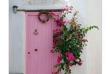 I adore DOORS!-  & pretty windows too~