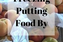 Canning, Freezing, Preserving / Putting food by. It's nice to have a stocked pantry.