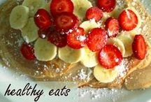 Breakfast, Lunch, and Snack Idea / Some easy, some quick/grab and go, some make-head, mostly healthy ideas for feeding the kids food they will eat before school, at school, and after school!!s