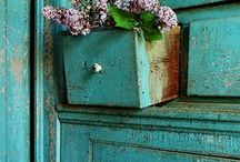 Turquoise and aquas