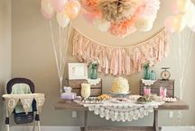 Ellie & Isla Jane's Birthday 2015 / Tea party birthday for 3 year old and 1 year old.  / by Brooklyn Chavers