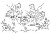 Vintage Embroidery Patterns / Digitally-traced from vintage stamped for embroidery linens in my personal collection. Available as PDFs via direct download. Find them all on my website at http://www.primrosedesign.com/catalog/embroidery-patterns and a small selection in my Etsy shop at http://www.etsy.com/shop/primrose