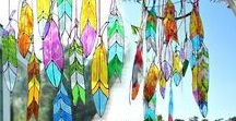 Faux Stained Glass / Patterns, ideas and tutorials for making fau stained glass art