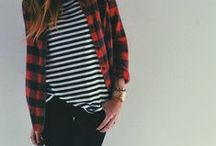MUH style / probably jeans, flannel, stripes & leather / by Haleigh Briggs