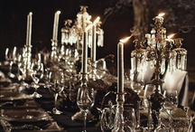 Elegant Halloween Wedding  / Would love a late night wedding in a swanky New York loft followed by a heavy horderve reception. Colors would be eggplant, black and maybe ivory? Lots of candlelight!