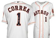 Astros Authentics and Memorabilia / Autographed or game-used Astros bats, jerseys and balls. All items are authenticated.