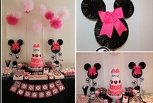 Minnie Mouse Party / Disney - Minnie - Red - White - Pink - Party! - First Birthday