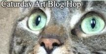Caturday Art Blog Hop / Join Caturday Art Blog Hop and Have Fun Creating! Simply edit photos of your pets or any animal using one of the many free photo editors available online, or any editing program you like. Enjoy creating and sharing arty photos of your pets. Or if you like to draw or paint animal pictures instead you can share these too.   http://www.athenacatgoddess.com
