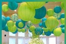 Color ✿ Turquoise & Lime Green / Color Inspiration: Lime Green and Turquoise Inspiration