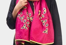 Contemporary Scarves and Stoles-Silk, Khadi Cotton & Mul / Silk, Khadi Cotton & Mul Scarves and Stoles for Contemporary Women