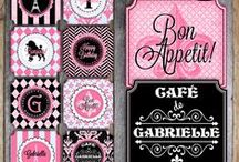 Parties & Events | Paris Themed Birthday Party Ideas / Paris themed birthday party ideas. Colors | Pink, Black, and Aqua.