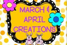 MARCH/APRIL CREATIONS / This board is for creative MARCH/APRIL IDEAS.  You may post up to 3 TPT products, FREEBIES, classroom games, or creative crafts a day.  DO NOT POST more than 3 TPT at a time.  PLEASE ONLY POST MARCH/APRIL IDEAS all others will be deleted.  Thank you!! PLEASE DO NOT ADD OTHERS TO THIS BOARD!! Email me rezolay@gmail.com if you would like to be added to this board.