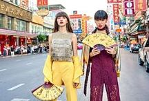 Lost in Chinatown / Lost into the atmosphere of Chinatown in Bangkok by wearing the newest bright items for welcome this upcoming Chinese New Year. Enjoy living colorful life as urbanista style among the magic moments of china culture.
