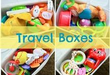 Tips for Traveling with Kids / Getting on an airplane with the kids soon? Maybe flying is not your thing; maybe your family is heading on a roadtrip I the car? Do you need car games for your toddler? Maybe packing tips for the baby? Here are as many tips as we could collect about traveling with the kids!
