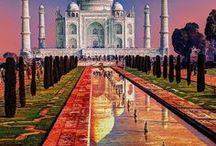 """India / """"So far as I am able to judge, nothing has been left undone, either by man or nature, to make India the most extraordinary country that the sun visits on his rounds. Nothing seems to have been forgotten, nothing overlooked."""" ~ Mark Twain"""