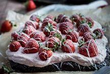 Banana. Strawberry. / banana and\or strawberry based recipes... / by Angelina ♥