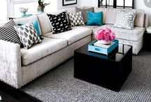 Grey with a pop of color living room / Living room ideas / by Tammy McNutt Fralick