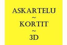 Crafts - Card - 3D Decoupage / Askartelu - Kortit - 3D 3D tekniikalla toteutettuja kortteja ja tulostettavia 3D kuvia.