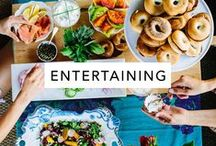 Entertaining / Dinner party, cocktail party, entertaining and party planning inspiration
