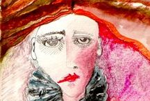 Drawings and mixed media by Carole Robinson / Sketch book studies, paintings, mixed media and digital art...