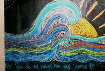 {chalk-art} / by stephanie sekula