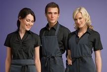 Hospitality & Catering Uniforms | Simon Jersey / Uniforms for hospitality & catering roles including aprons, chefwear, blouses & suiting for front of house and tunics for housekeepers. / by Simon Jersey | Uniforms