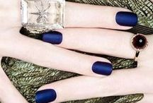Midnight Blue Colour Palette | Simon Jersey / Midnight blues and sapphire shades are a sophisticated alternative to black. Sapphire blue on short square nails is neat and smart or on pointed stiletto nails it looks more glamorous. / by Simon Jersey | Uniforms