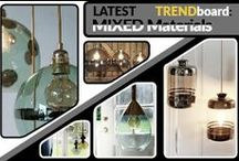 TREND BOARD: Mixed Materials / If you love artistry where mixed mediums are used to create a work of art you'll adore this trend. You'll see various materials combined to great effect. Is like jewels for you home.