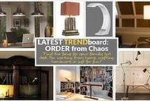 """TREND BOARD: Order from Chaos / Working from home is becoming more and more a lifestyle trend in today's age, the demand for a home work space is high. Keep it personal, add that essential piece to make it feel comforting and more """"you"""" - a lamp!"""