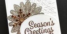 Holiday Cards / Simple & pretty holiday card ideas using Stampin' Up! products.  Christmas, Halloween, Thanksgiving, Valentine's Day & more! Card making & inspiration posted daily http://stampinpretty.com