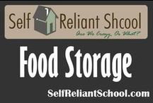 Food Storage / Ideas about how to build and maintain a food storage.  / by Self Reliant School