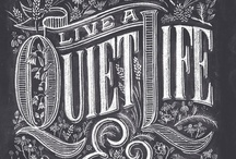 Lettering, Fonts & Typography