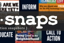 InfoSnaps Marketing / What are InfoSnaps (Information Snapshots)? InfoSnaps are graphic images/photos on square tiles, preferably (960 px by 960 px), to Educate, Inspire, Inform, Promote, and invoke Call-to-Action.